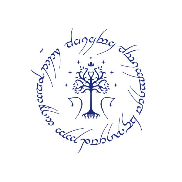 Matrimonio Tema Signore Degli Anelli : Logo signore degli anelli con iniziali partecipazioni